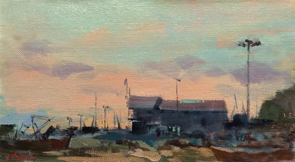 """Hastings Sunset"" original fine art by John Shave"