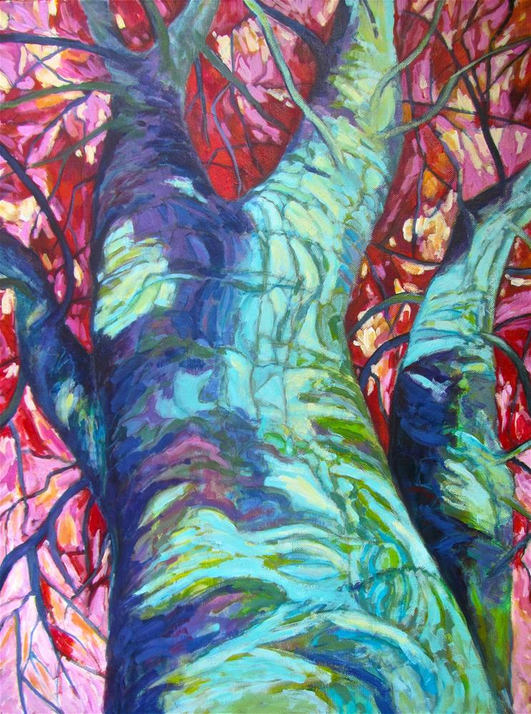 """""""Re-inventing Nature, One Tree at a Time"""" original fine art by Patricia MacDonald"""