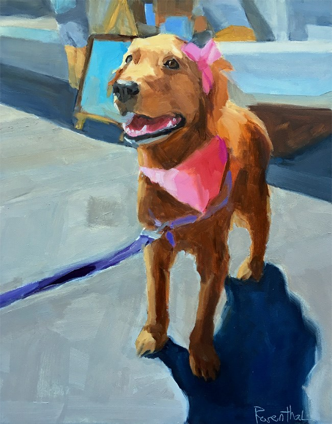 """Dressed in Pink"" original fine art by Robin Rosenthal"