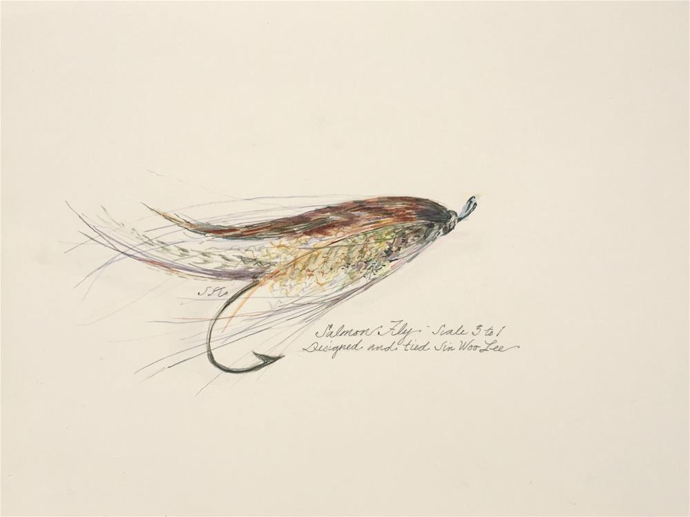 """""""Salmon Fly"""" original fine art by Jean Krueger"""