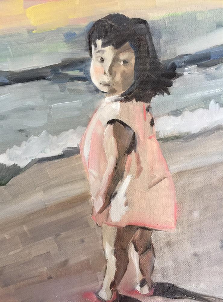 """""""294 Little Girl Blue"""" original fine art by Jenny Doh"""
