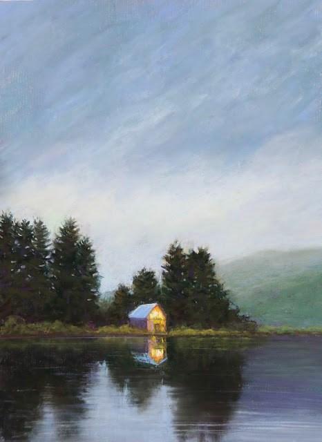 """Beacon"" original fine art by Sharon Lewis"