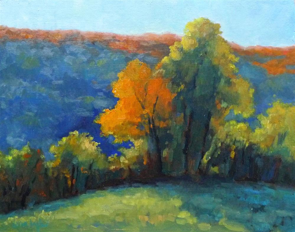 """Trees in Autumn"" original fine art by Lisa Kyle"