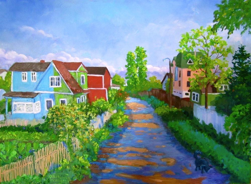 """The Half-Blue House"" original fine art by Patricia Musgrave"