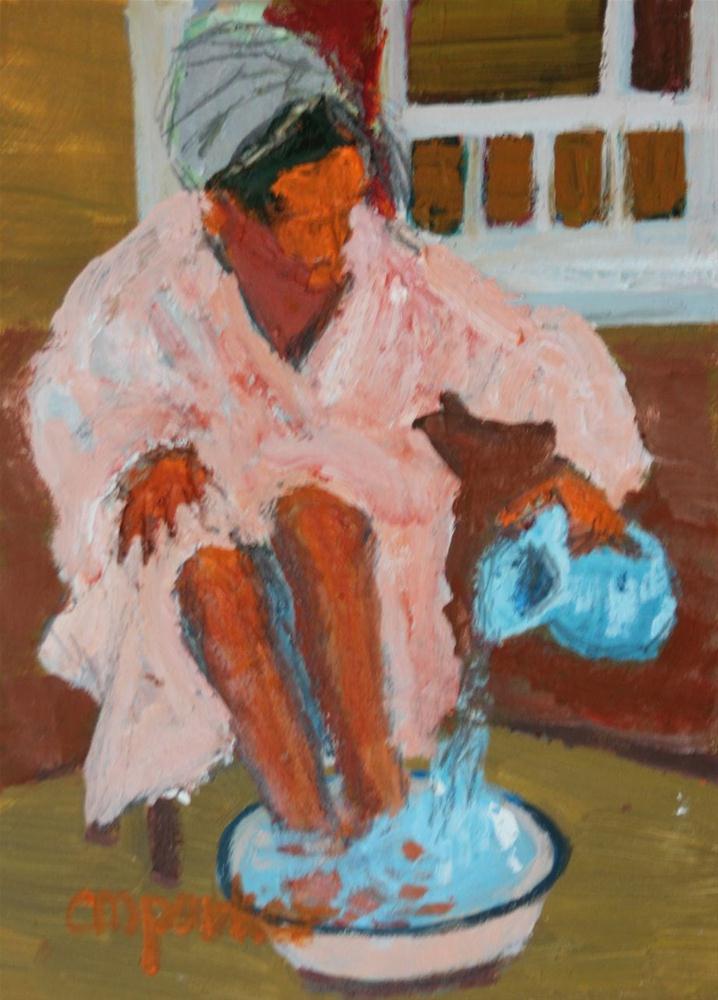 """Bathing Challenge DPW"" original fine art by Christine Parker"