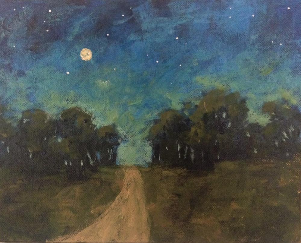 """""""Start of Night"""" original fine art by Shannon Bauer"""