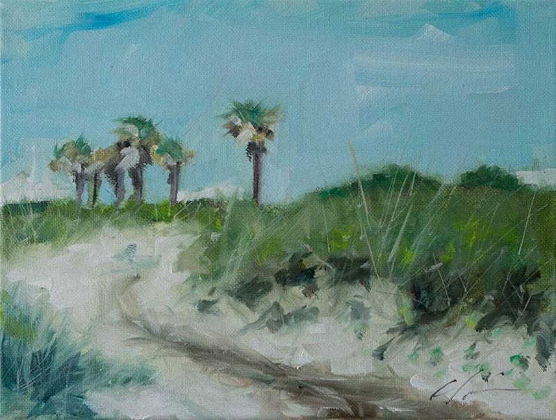"""""""Beach Path"""" original fine art by Clair Hartmann"""