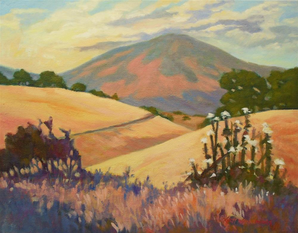 """Foothills in August"" original fine art by Rhett Regina Owings"