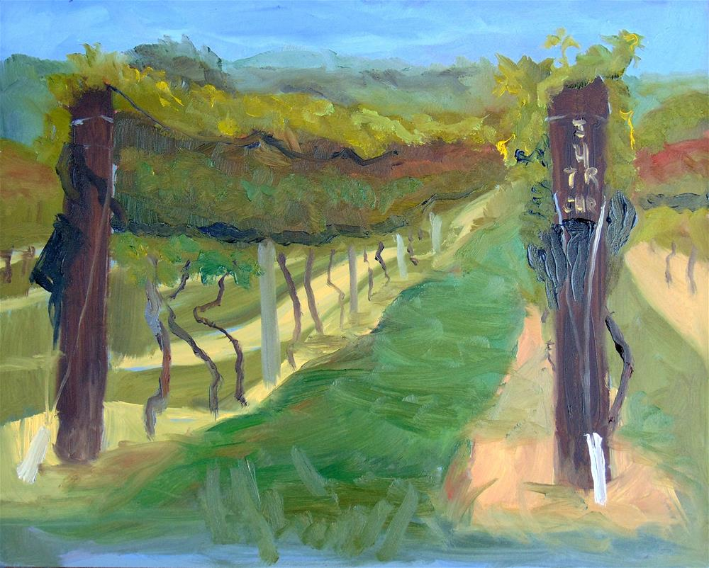 """Good Luck Cellars Vineyard"" original fine art by Catherine Kauffman"