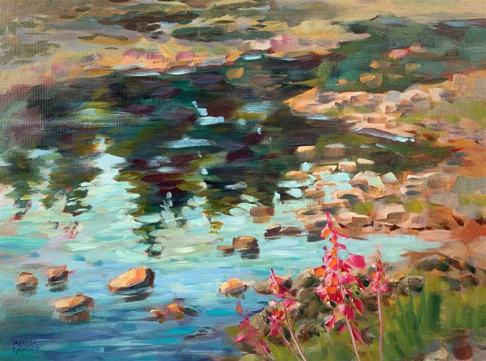"""Flowers & Reflections"" original fine art by Melissa Gannon"