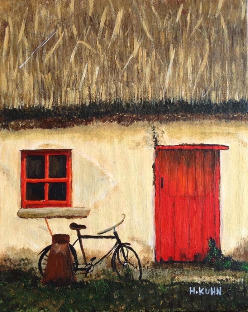 """""""Irish Cottage"""" original fine art by Helen Kuhn"""