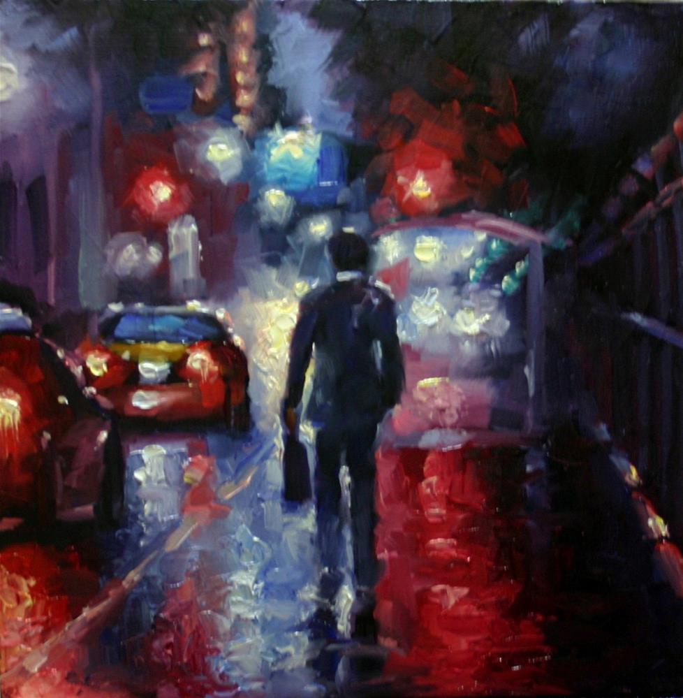 """""""T.G.I.F., Financial District, Toronto"""" original fine art by Catherine Jeffrey"""