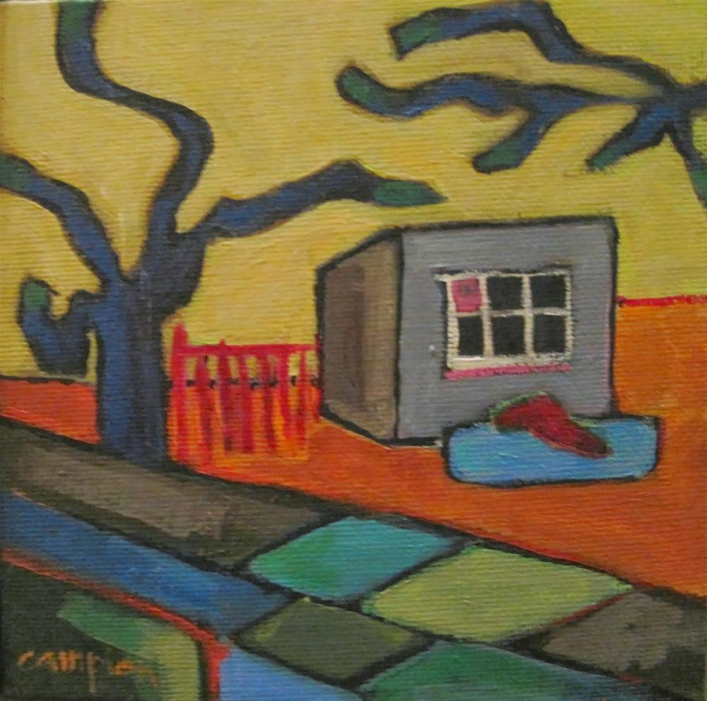 """224.  Hen House at Beltane Ranch"" original fine art by Diane Campion"