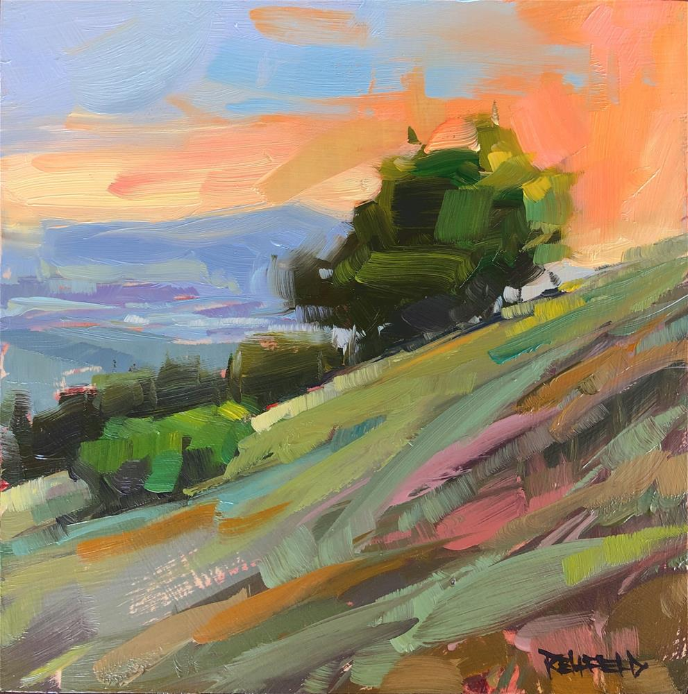 """Steep Sunset Hike"" original fine art by Cathleen Rehfeld"