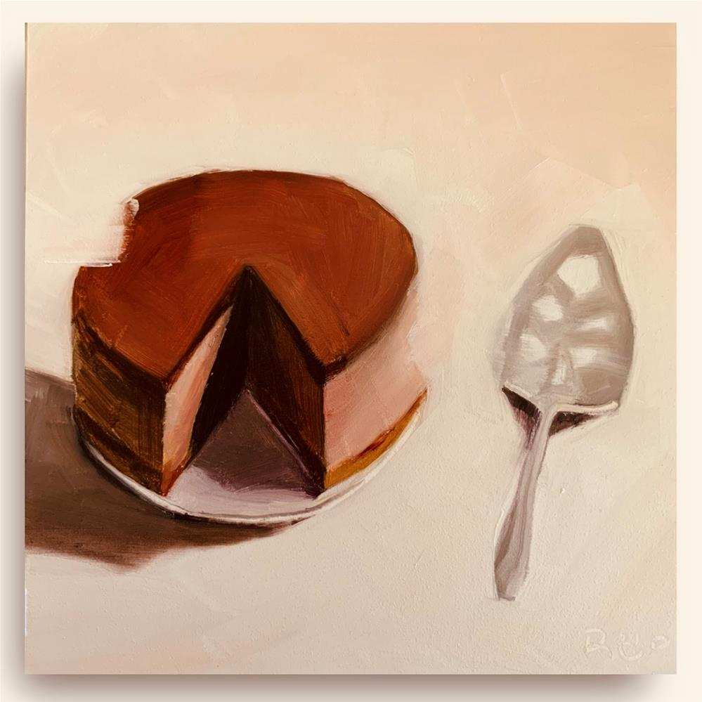 """""""841 Disappearing Cake"""" original fine art by Jenny Doh"""