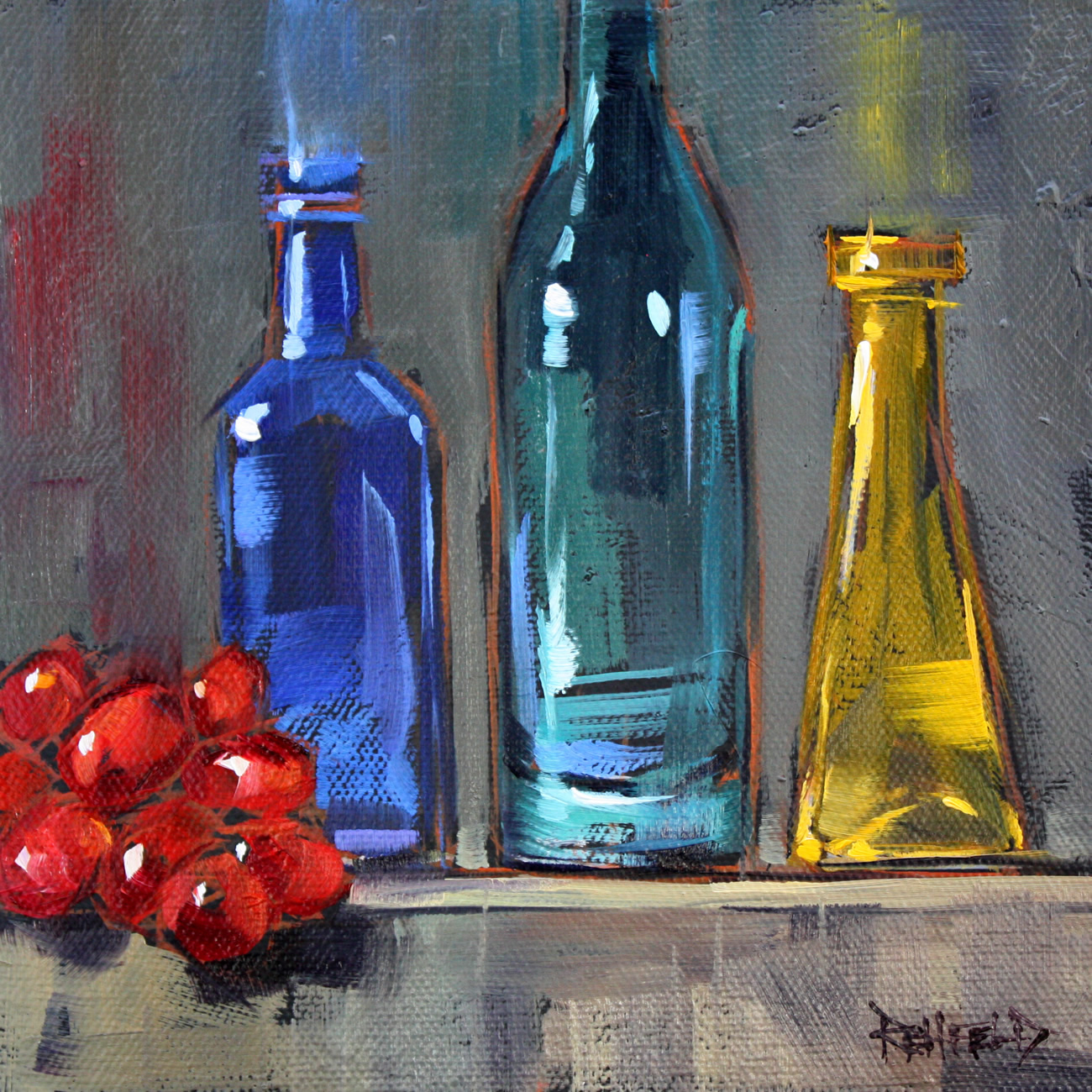 """""""Grapes and Colored Glass"""" original fine art by Cathleen Rehfeld"""