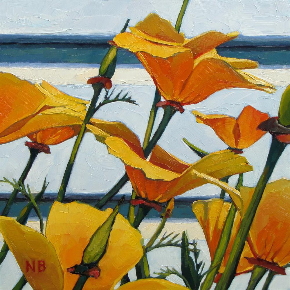 """California Dreamin'"" original fine art by Nora Bergman"