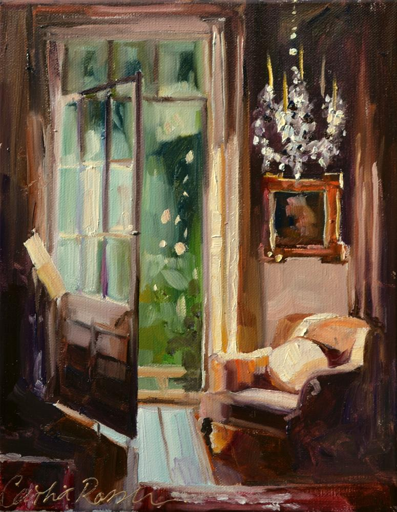 """ROOM WITH A VIEW"" original fine art by Cecilia Rosslee"
