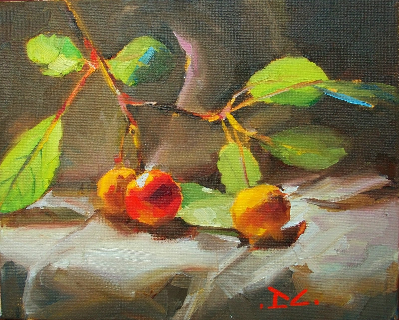 """Red or Yellow and Green?"" original fine art by Doug Carter"