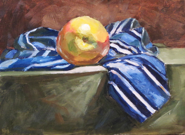 """Tie goes to the Apple"" original fine art by Dave Froude"