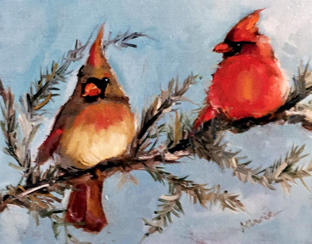 """""""Me and You"""" original fine art by Marcia Hodges"""