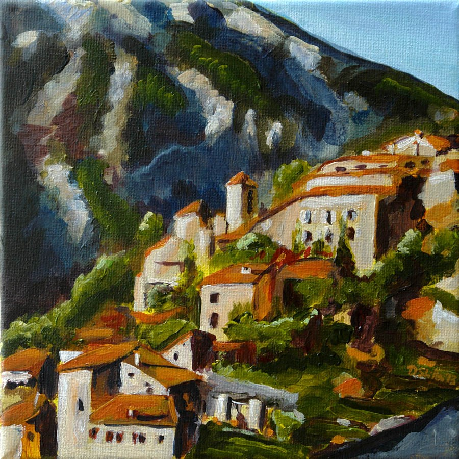 """0635 Vallée du Toulourenc"" original fine art by Dietmar Stiller"