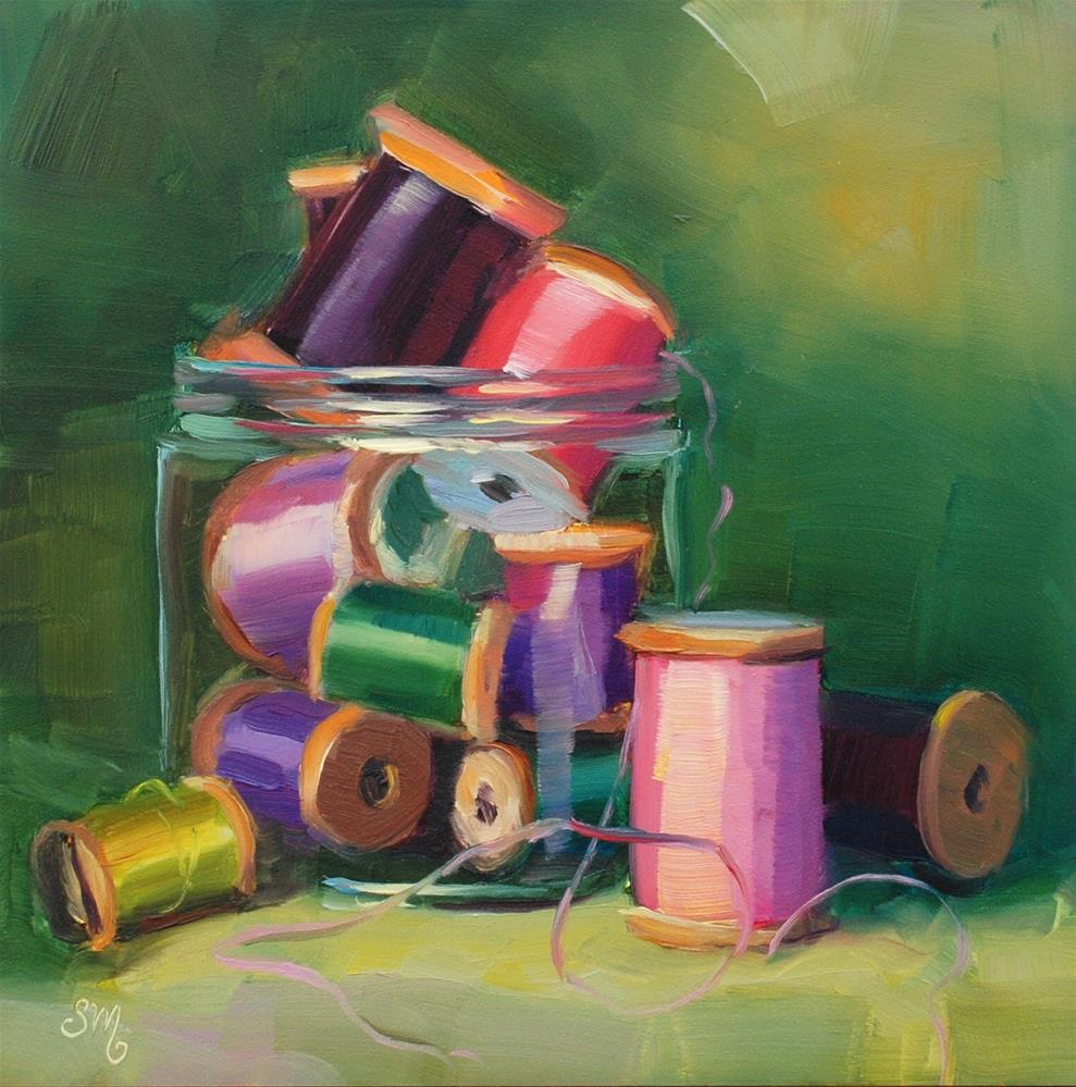 """No. 779 Peggy's Spools #2"" original fine art by Susan McManamen"