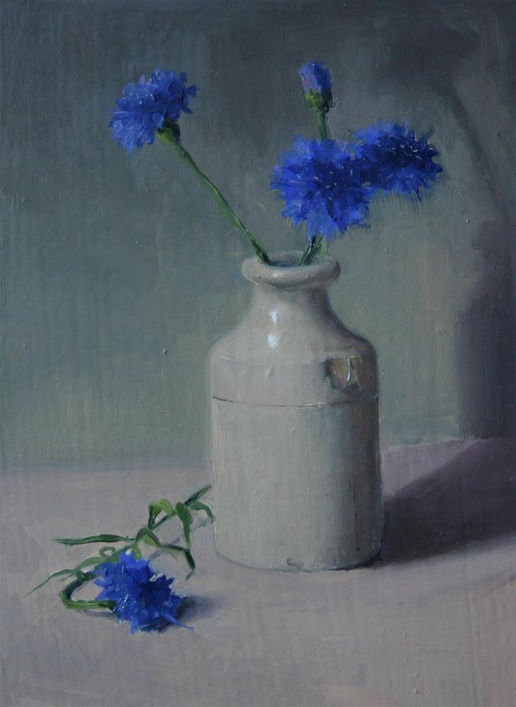 """Cornflowers"" original fine art by Liz Balkwill"