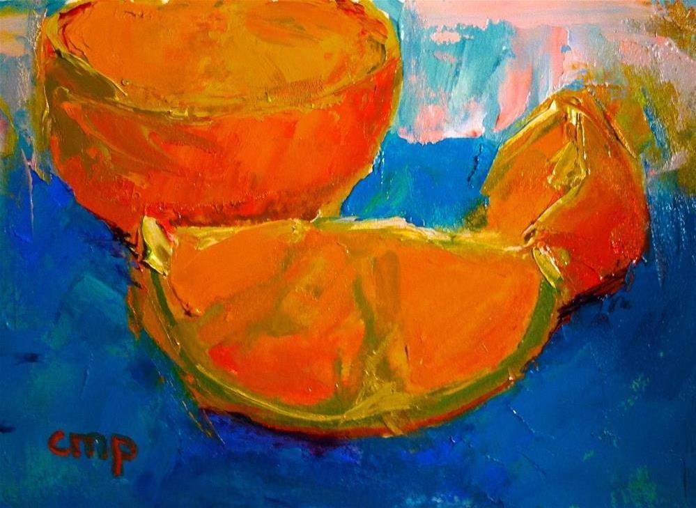 """Orange Still Life"" original fine art by Christine Parker"