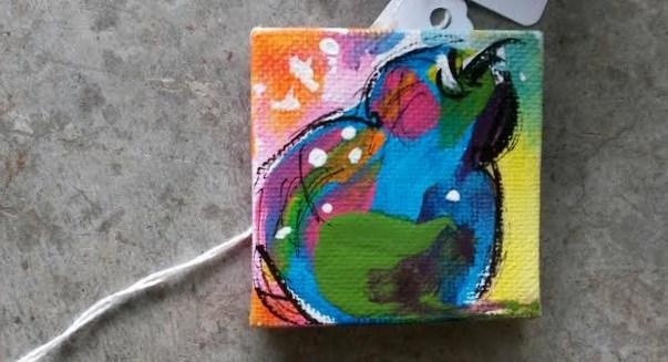 """Zany Pear"" original fine art by Terri Einer"
