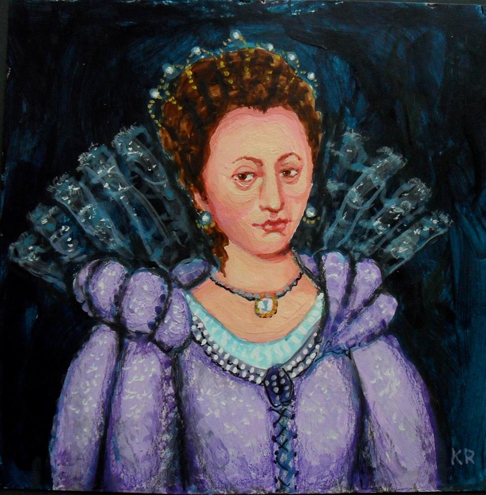 """The Queen"" original fine art by Karen Roncari"