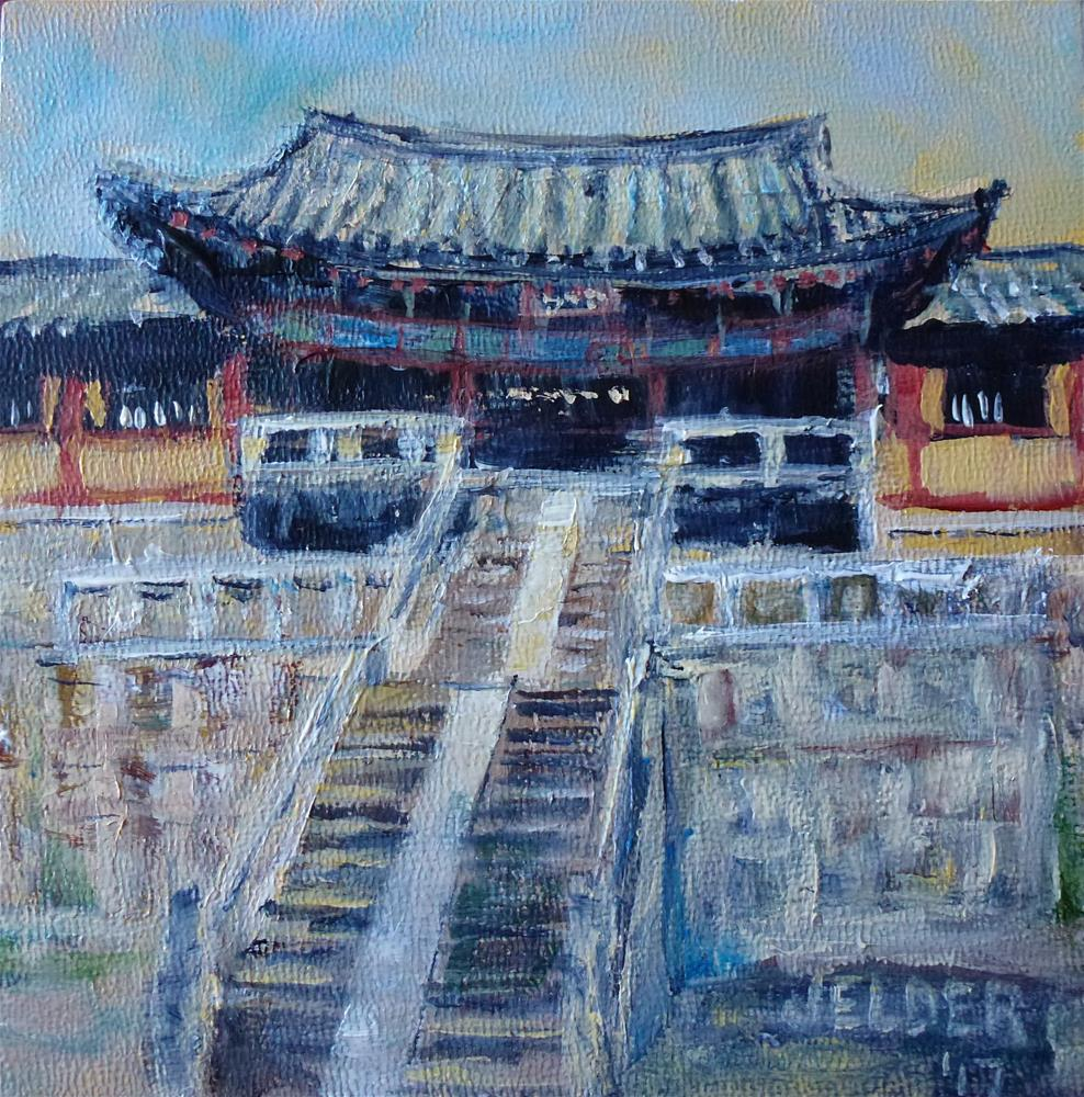 """Temple"" original fine art by Judith Elder"