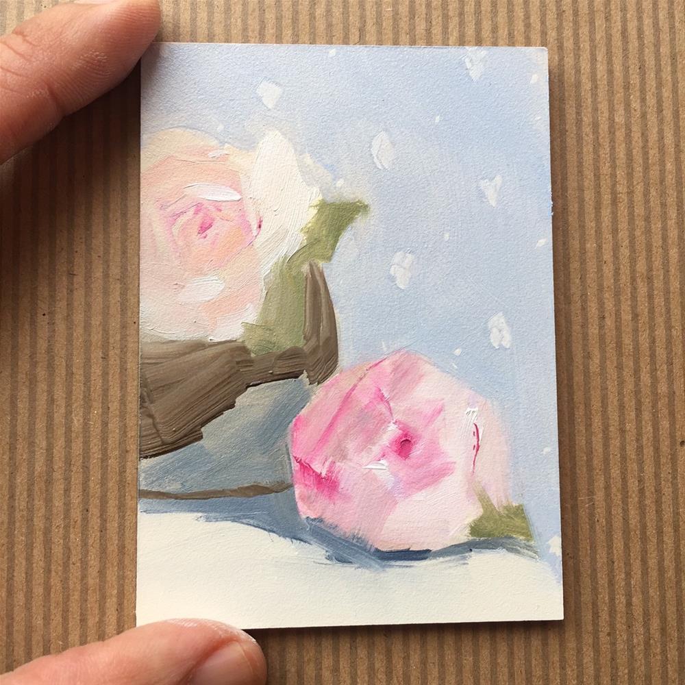 """276 Peony Pair"" original fine art by Jenny Doh"