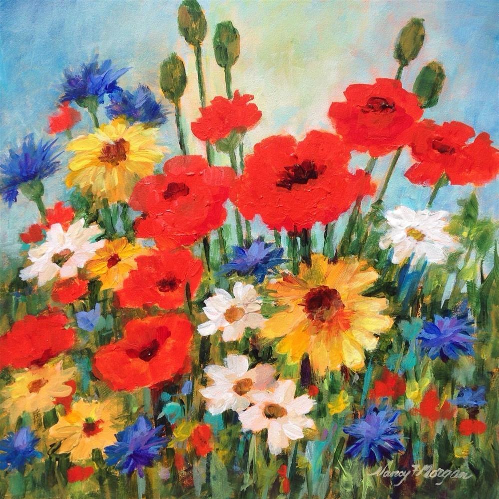 """Country Garden"" original fine art by Nancy F. Morgan"