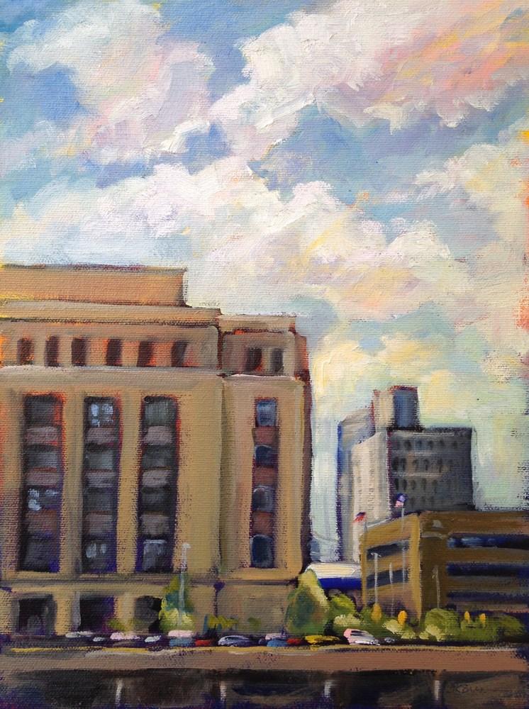 """The Old Post Office"" original fine art by Jeanne Bruneau"