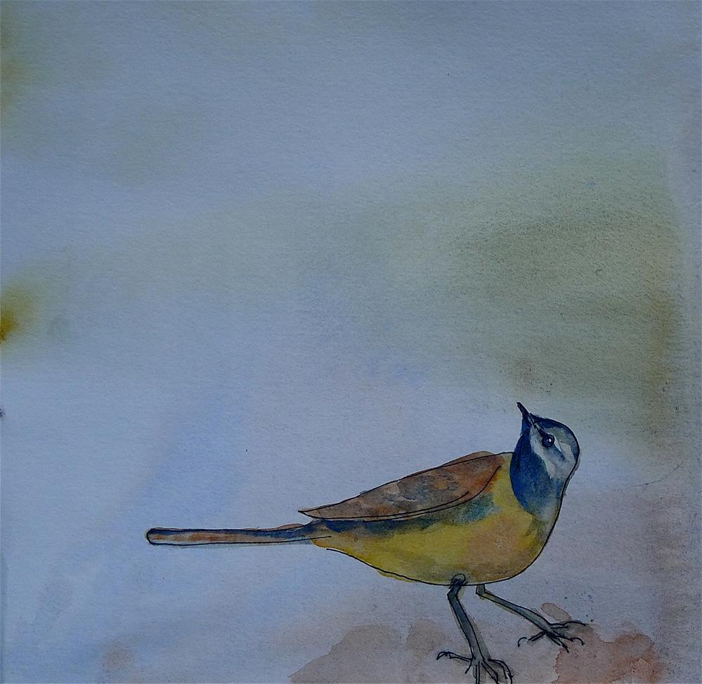 """Little bird"" original fine art by Ulrike Schmidt"