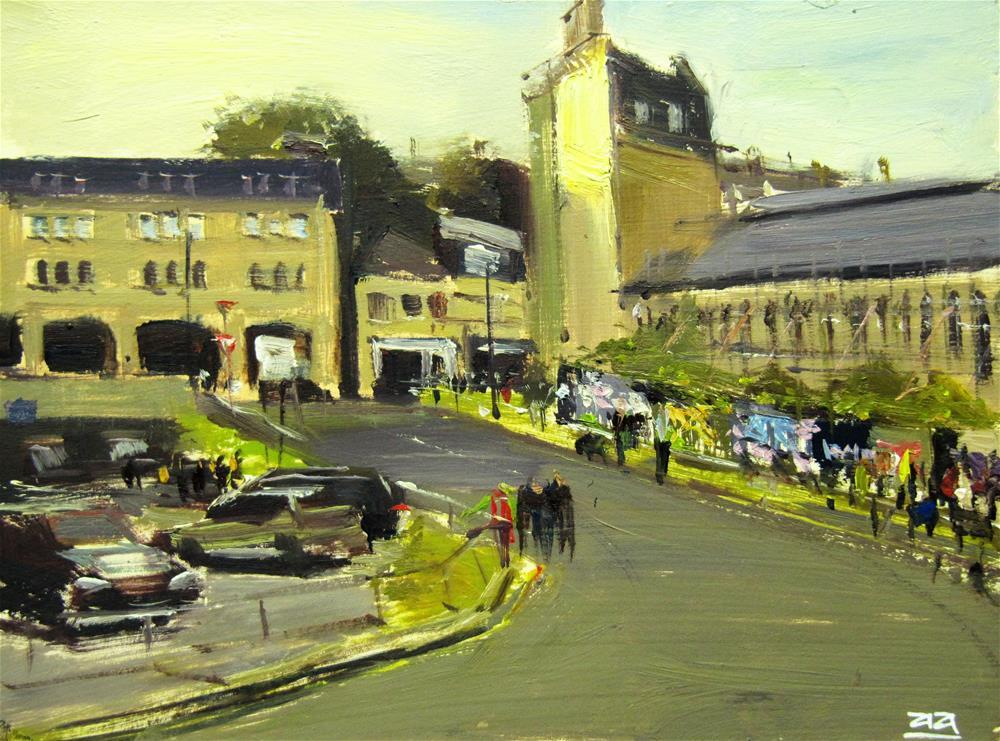 """""""Evening light, Cattle Market, Bath"""" original fine art by Adebanji Alade"""