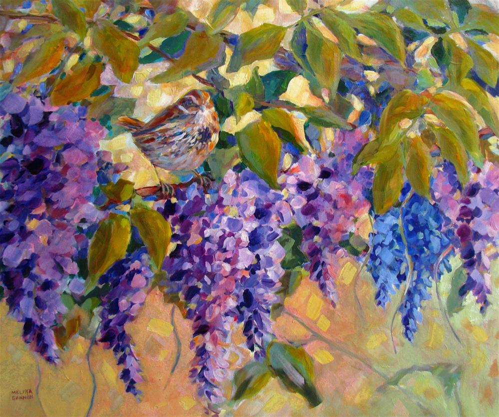 """Wisteria Perch"" original fine art by Melissa Gannon"