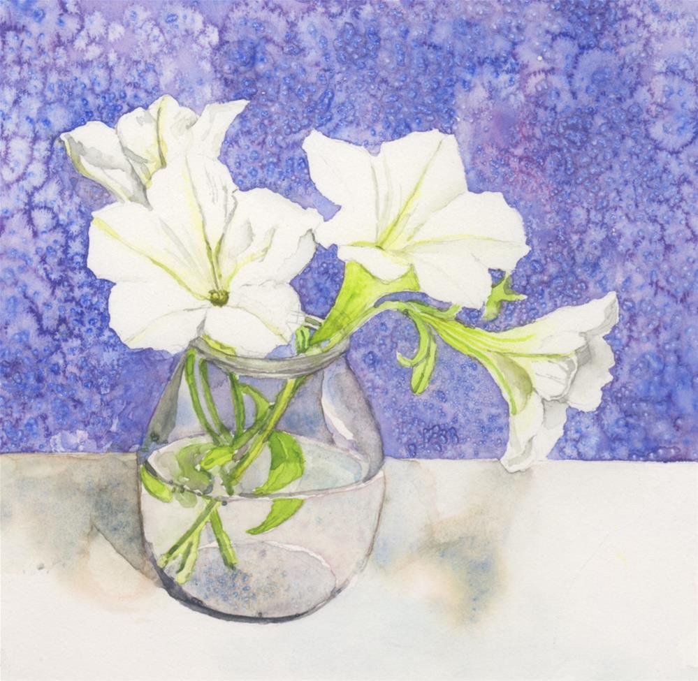 """White Waves in December"" original fine art by Carole Baker"