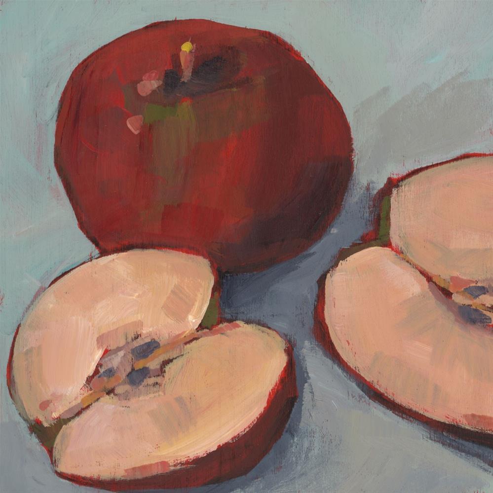 """""""0926: Cut Apples"""" original fine art by Brian Miller"""