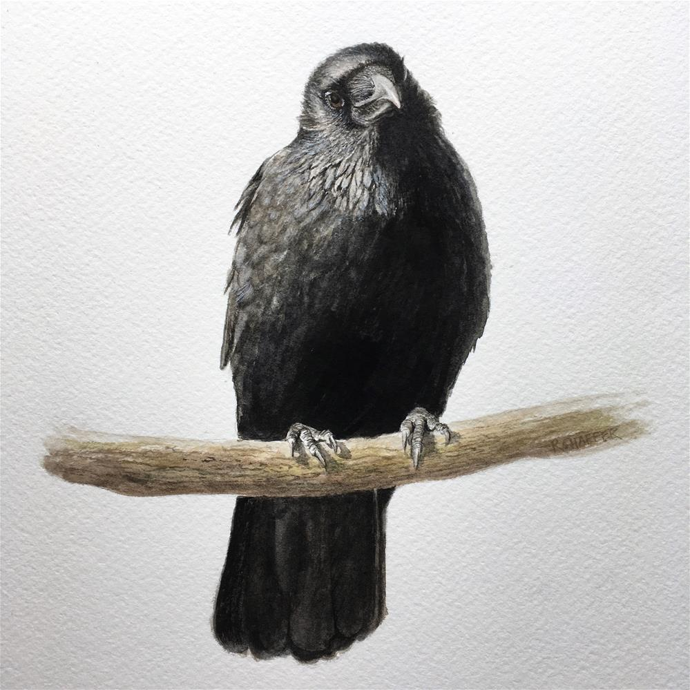 """Raven"" original fine art by Renay Shaffer"