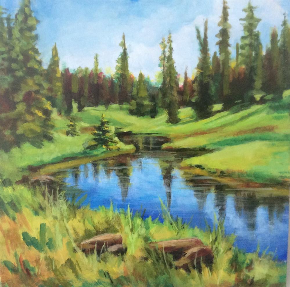 """""""Quiet Waters"""" original fine art by wendy black"""