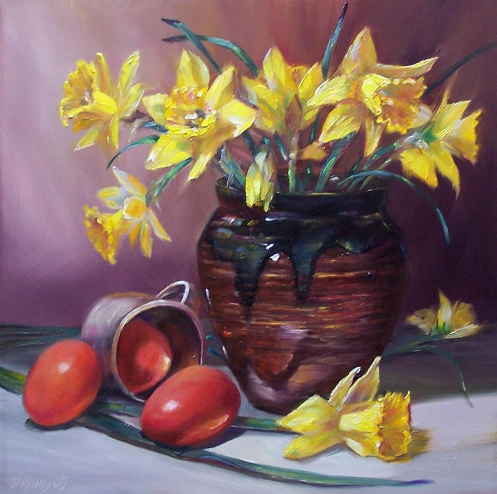 """Daffodils"" original fine art by Donna Munsch"