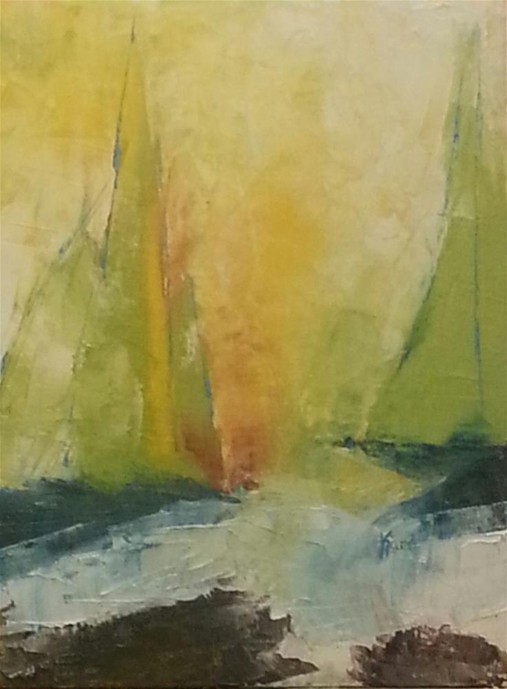 """Rockin' The Sea"" original fine art by Kari Melen"