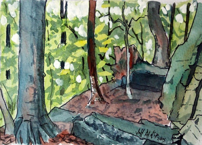 """Cliffside, Brushy Lake"" original fine art by Jeff Atnip"