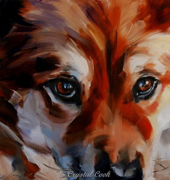 """""""Keen Sight"""" original fine art by Crystal Cook"""