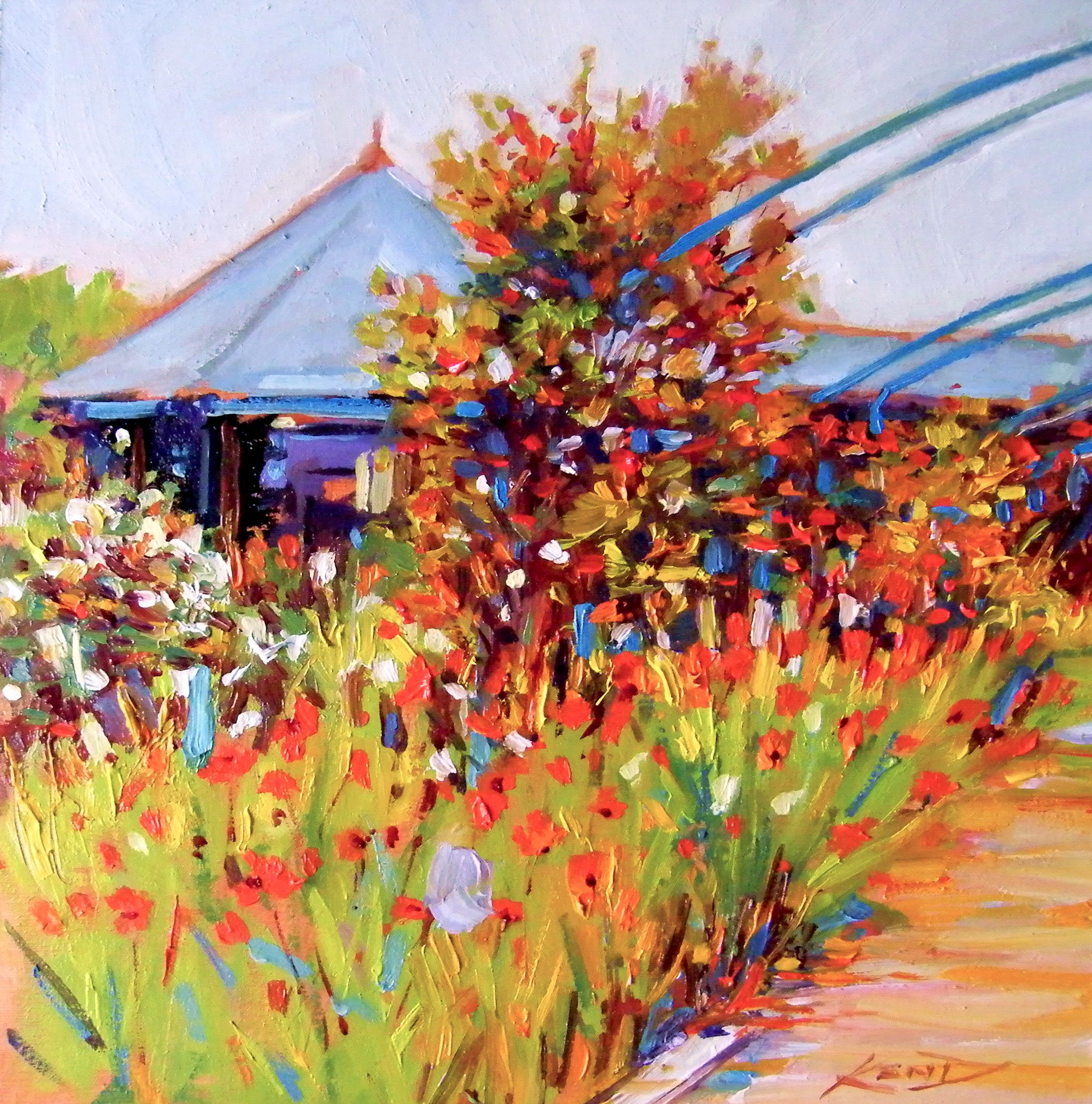 """""""Patchings...Proceeds to the children of Africa challenge (World Vision)"""" original fine art by Ken Devine"""