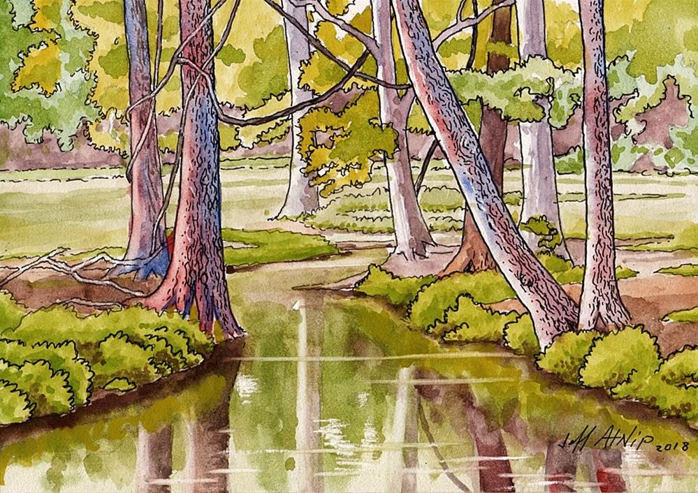 """The Spring Branch"" original fine art by Jeff Atnip"