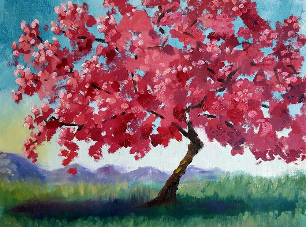 """""""Cherry Blossom"""" original fine art by Bhavna Misra"""