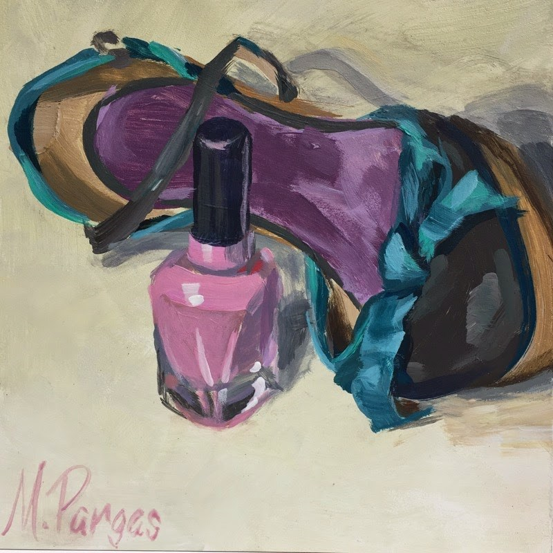 """""""Let's Go Out"""" original fine art by Mary Pargas"""